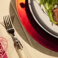 フランス リム丸皿 使用例
