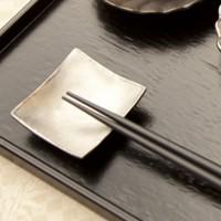 イタリア 角豆皿 ピューター 使用例