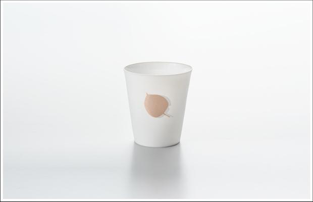 エッグシェル フリーカップ リーフB Pink