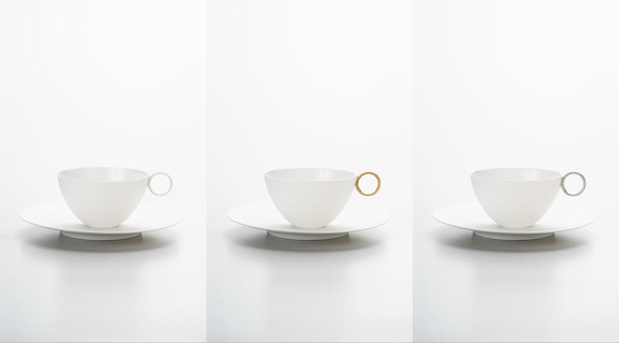 エッグシェル コーヒーカップ&ソーサー