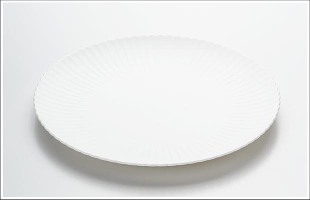 エッグシェル 菊割 27cm プレート