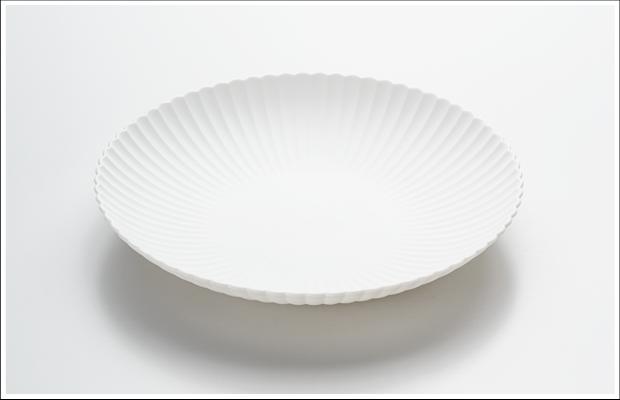 エッグシェル 菊割 23cm 浅鉢