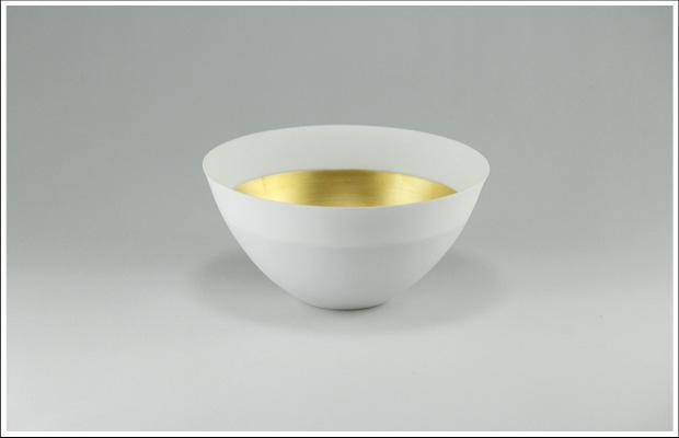 エッグシェル ボウルM White/Gold