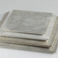 硯石正角プレート Silver 1