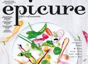 シンガポールのグルメライフスタイルマガジン「epicure」の表紙掲載
