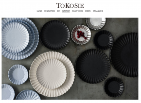 ウェブマガジン「TOKOSIE」に菊割皿が掲載されました