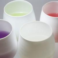 飲み物の色によって変幻自在です。彩の変化をお楽しみください。