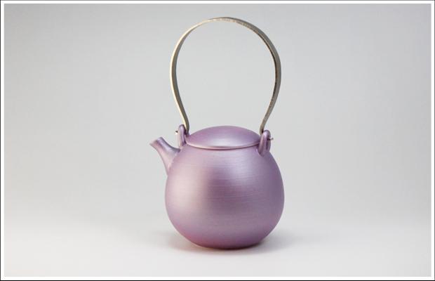 雲母カラー 繭型土瓶 パープル