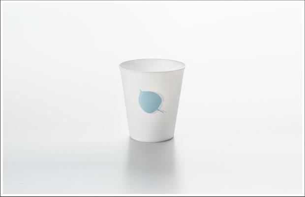 エッグシェル フリーカップ リーフB Blue
