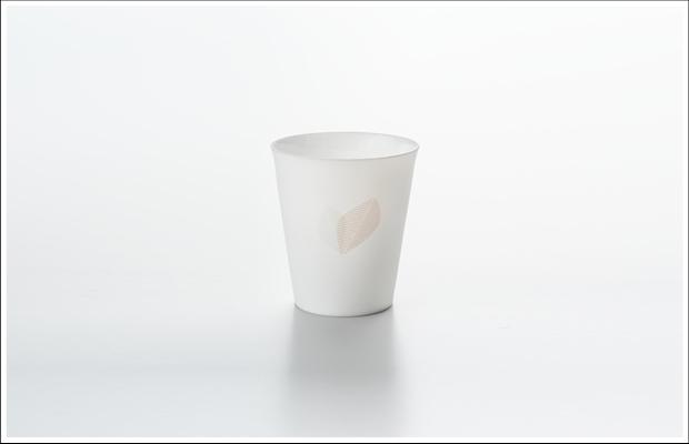 エッグシェル フリーカップ リーフA Pink