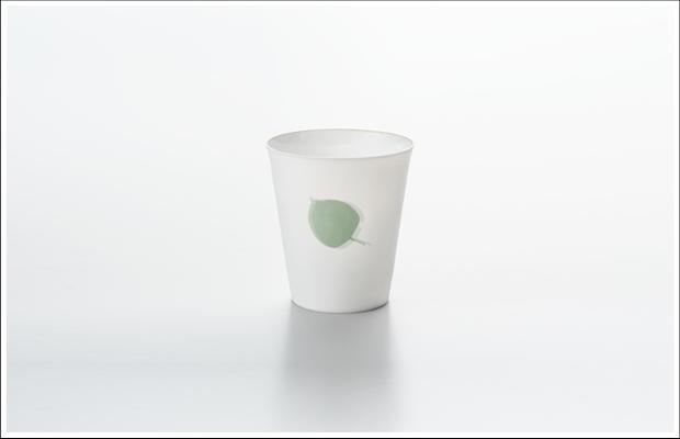 エッグシェル フリーカップ リーフB Green