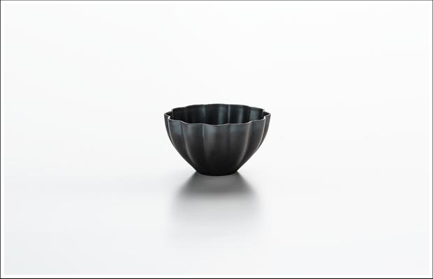 エッグシェル デザートカップ 花割 Black